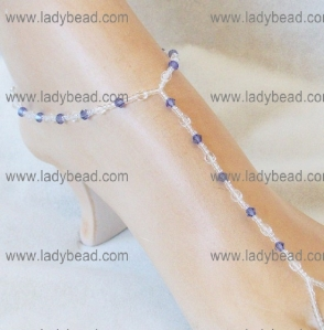 Tanzanite Crystal Sandals