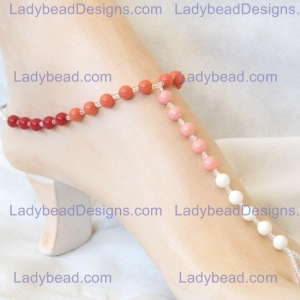 coral pearl sunset sandals